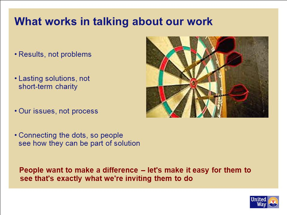 What works in talking about our work