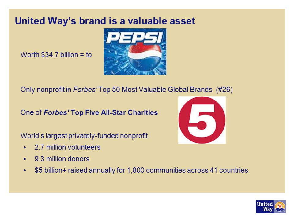 United Way's brand is a valuable asset