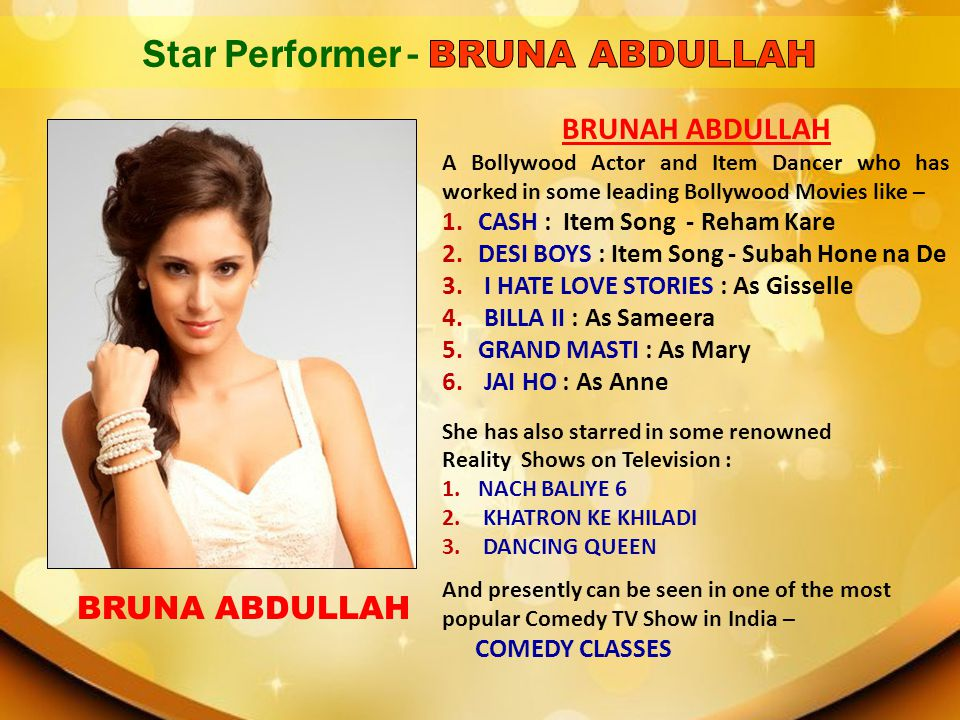 Star Performer - BRUNA ABDULLAH