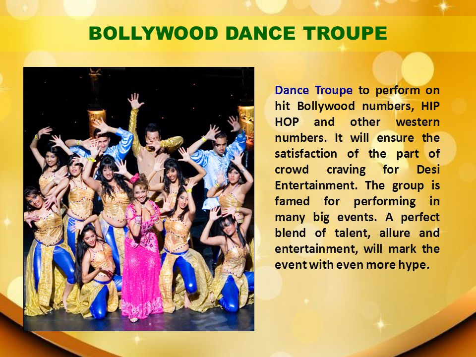 BOLLYWOOD DANCE TROUPE