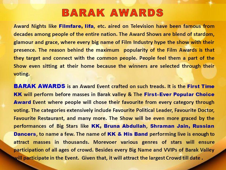 BARAK AWARDS