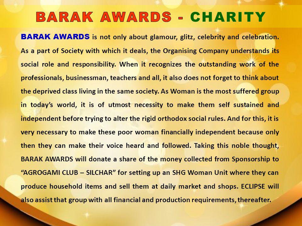 BARAK AWARDS - CHARITY