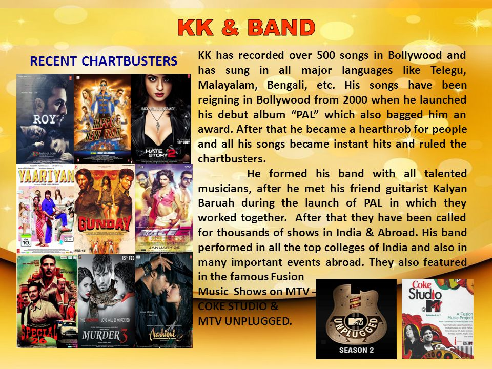 KK & BAND RECENT CHARTBUSTERS