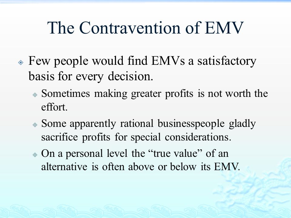 The Contravention of EMV
