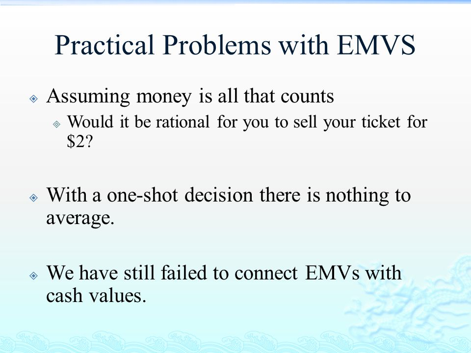 Practical Problems with EMVS