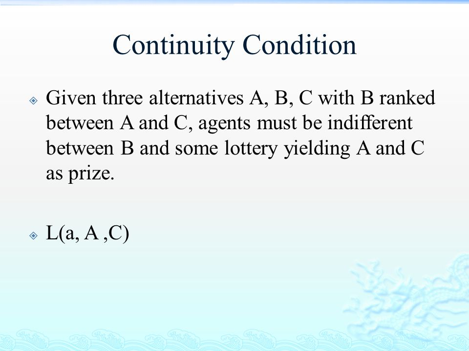 Continuity Condition