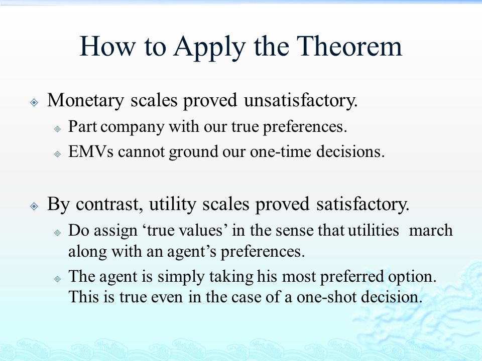 How to Apply the Theorem