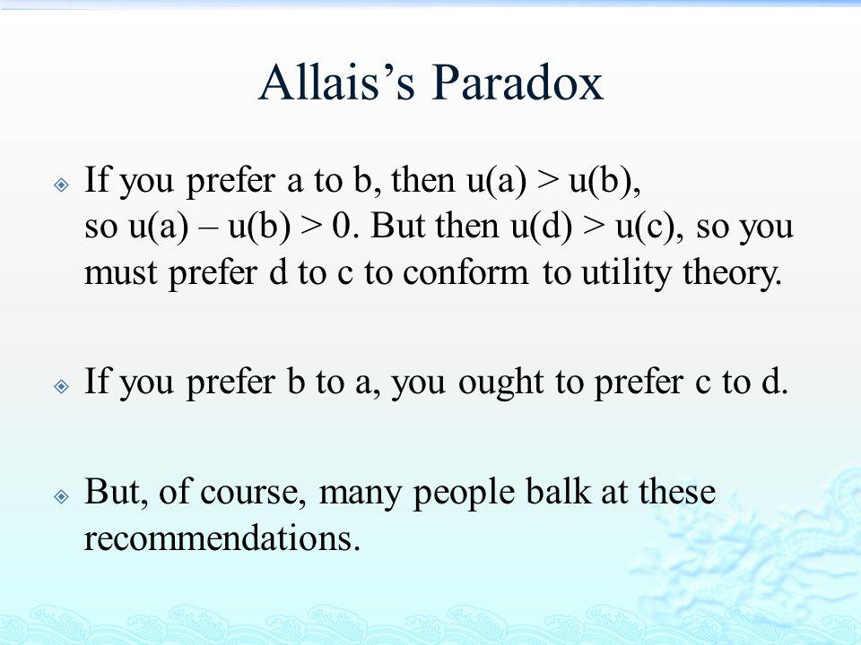 Allais's Paradox