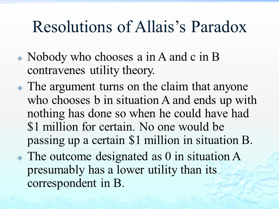 Resolutions of Allais's Paradox