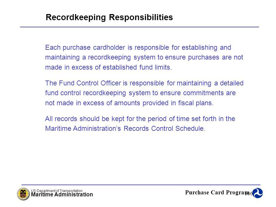 Recordkeeping Responsibilities