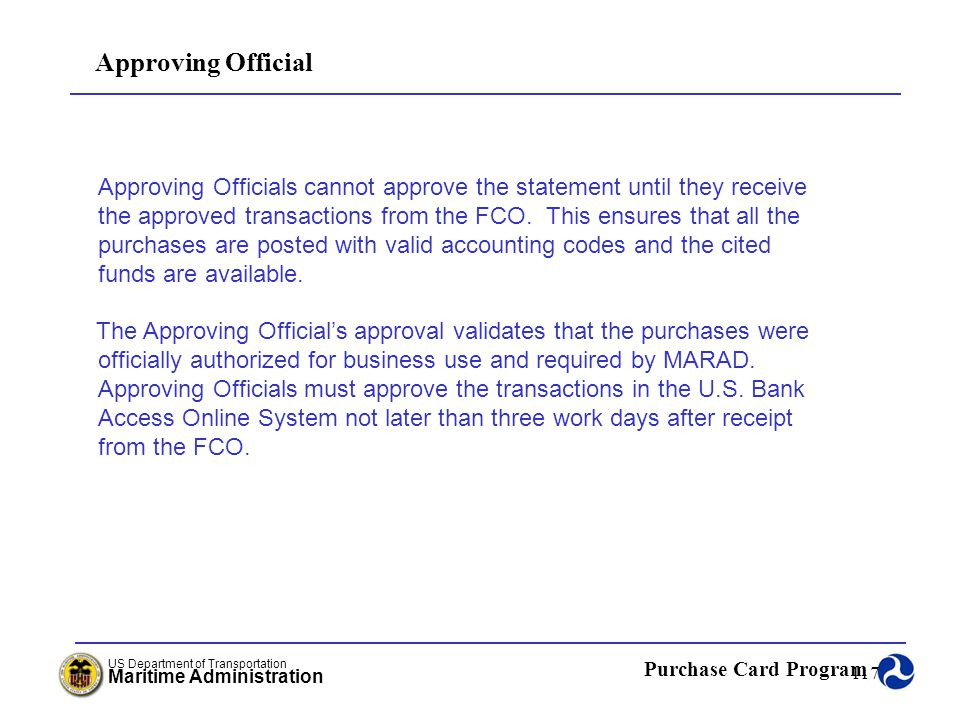 Approving Official