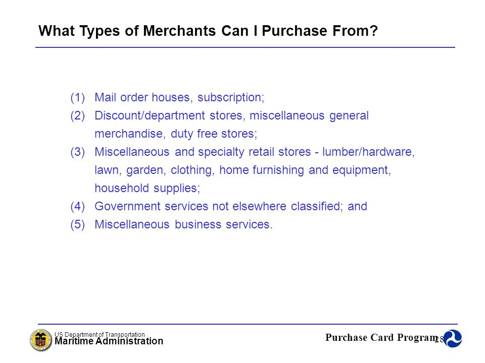 What Types of Merchants Can I Purchase From
