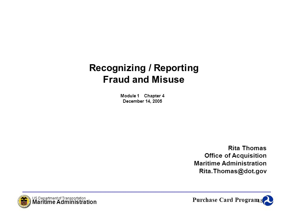 Recognizing / Reporting