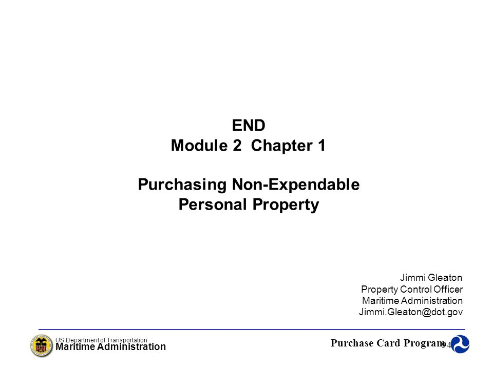 Purchasing Non-Expendable