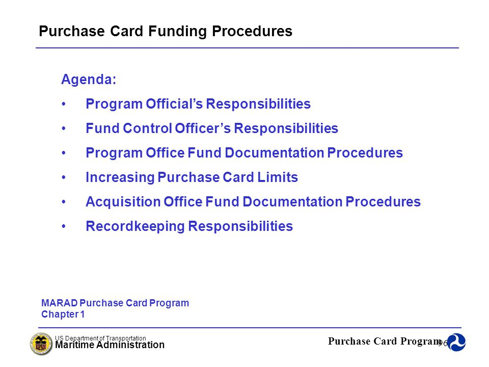 Purchase Card Funding Procedures