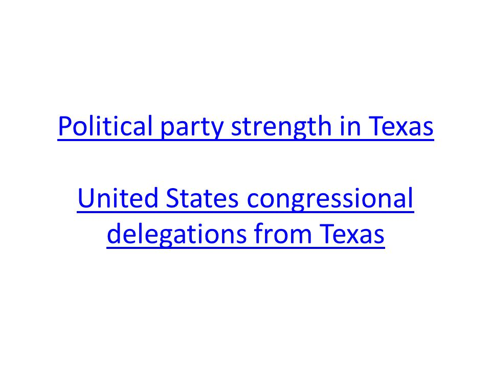 Political party strength in Texas United States congressional delegations from Texas