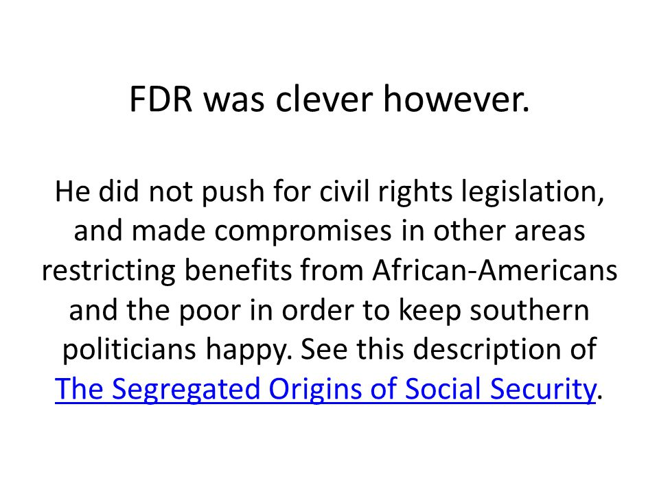 FDR was clever however.