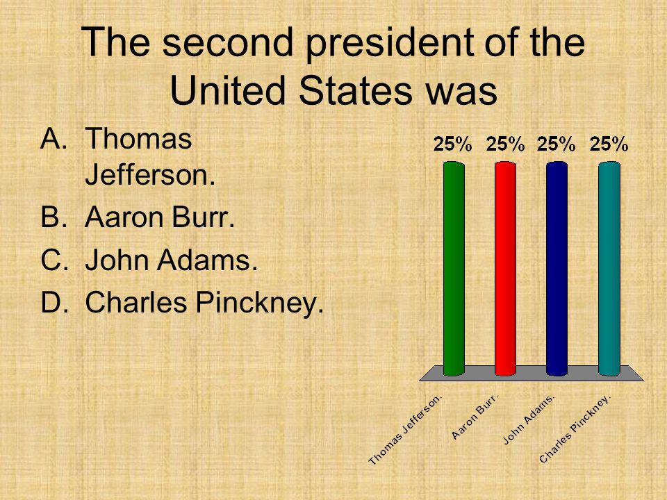 The second president of the United States was