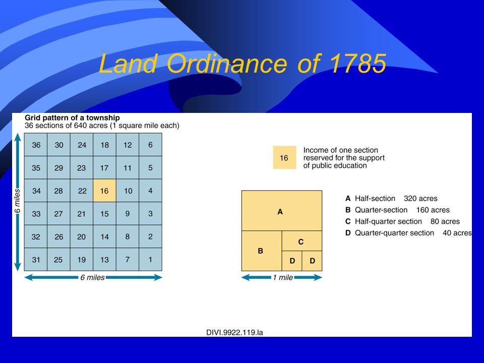 Land Ordinance of 1785 13
