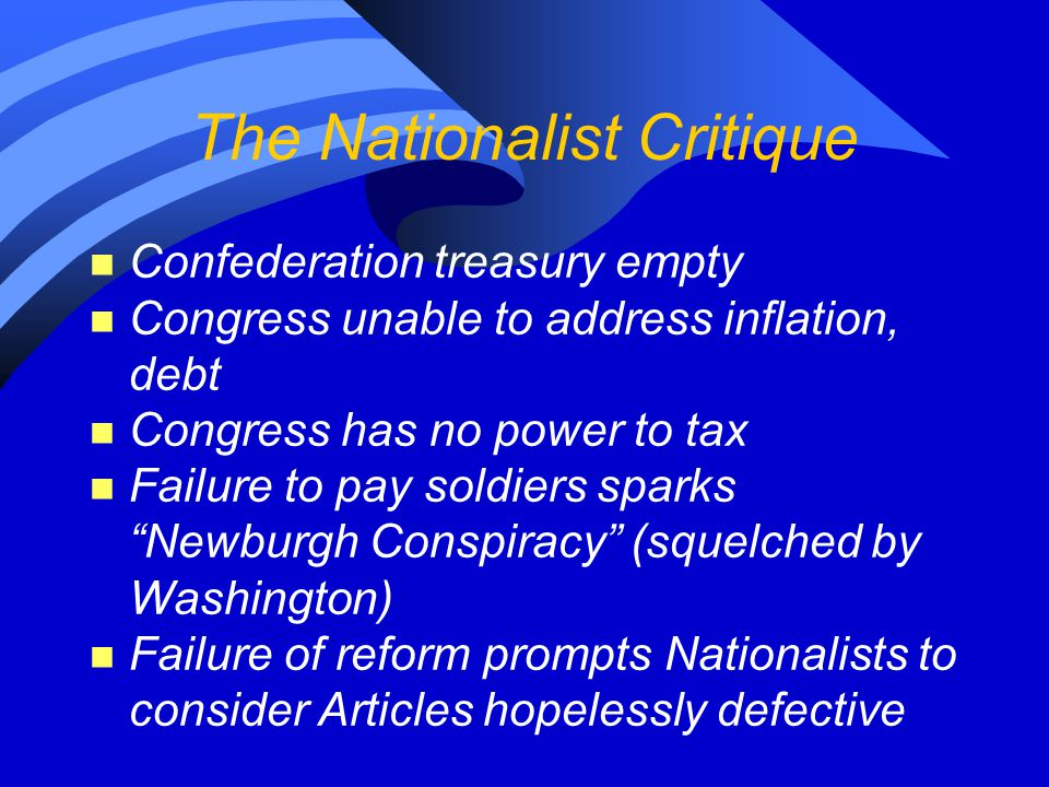 The Nationalist Critique