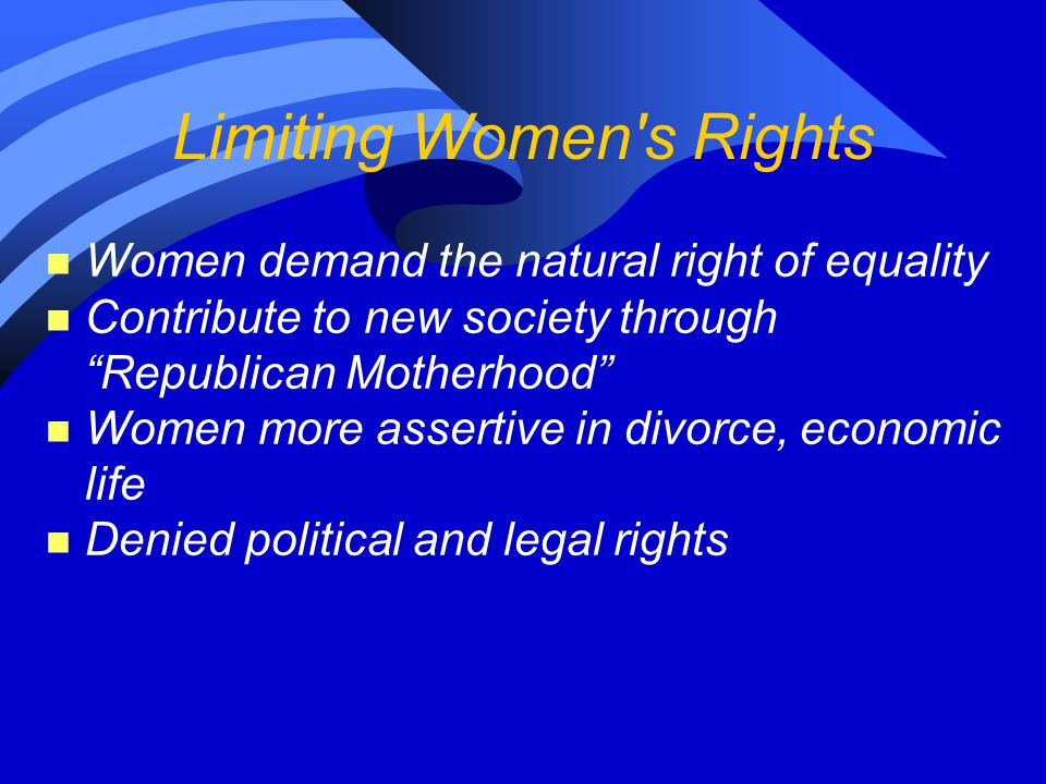 Limiting Women s Rights