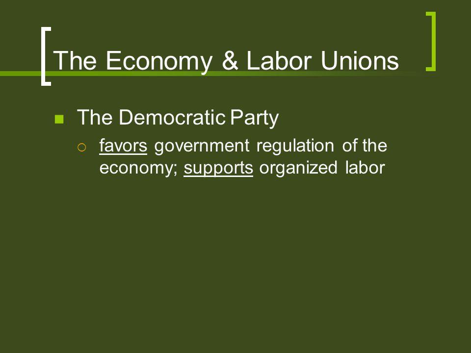 The Economy & Labor Unions