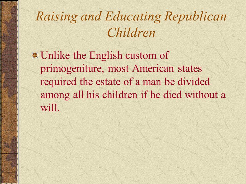 Raising and Educating Republican Children
