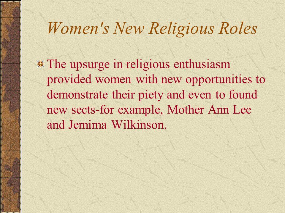 Women s New Religious Roles