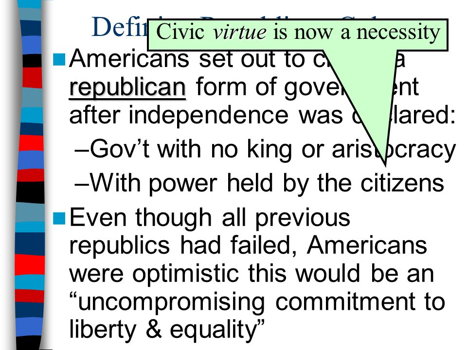The Impact of the American Revolution on American Society - ppt ...