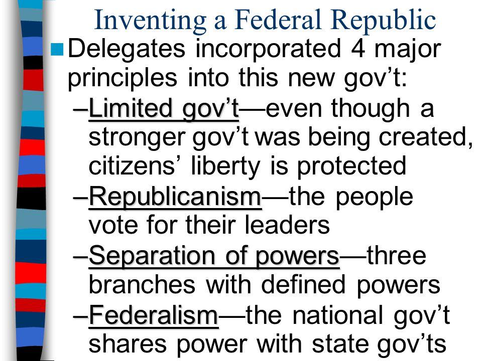 Inventing a Federal Republic