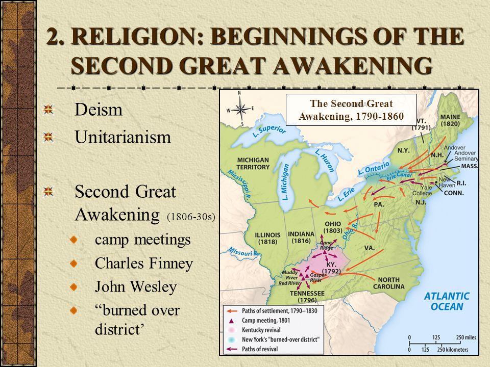 2. RELIGION: BEGINNINGS OF THE SECOND GREAT AWAKENING