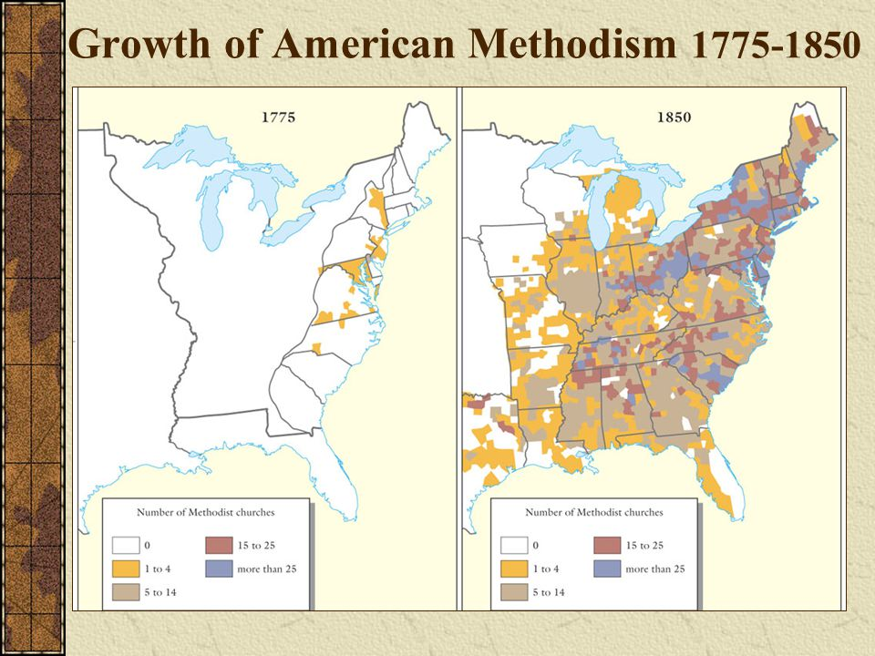 Growth of American Methodism 1775-1850