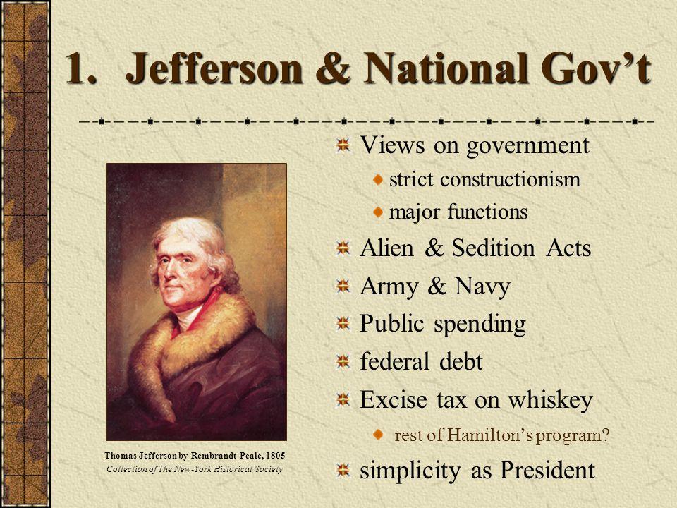 Jefferson & National Gov't
