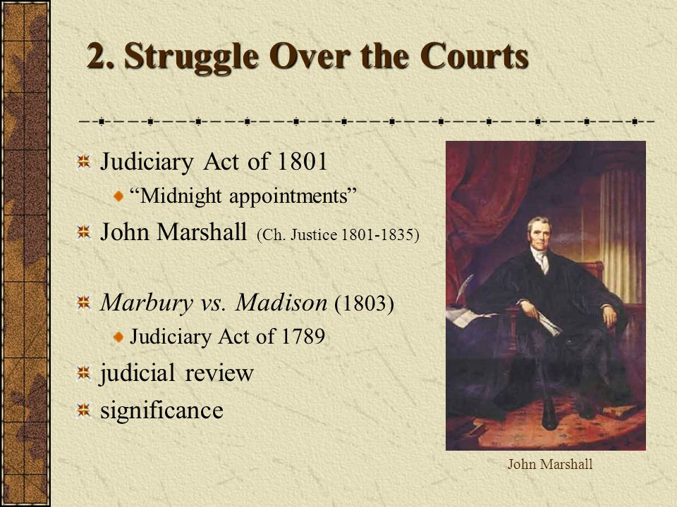 2. Struggle Over the Courts