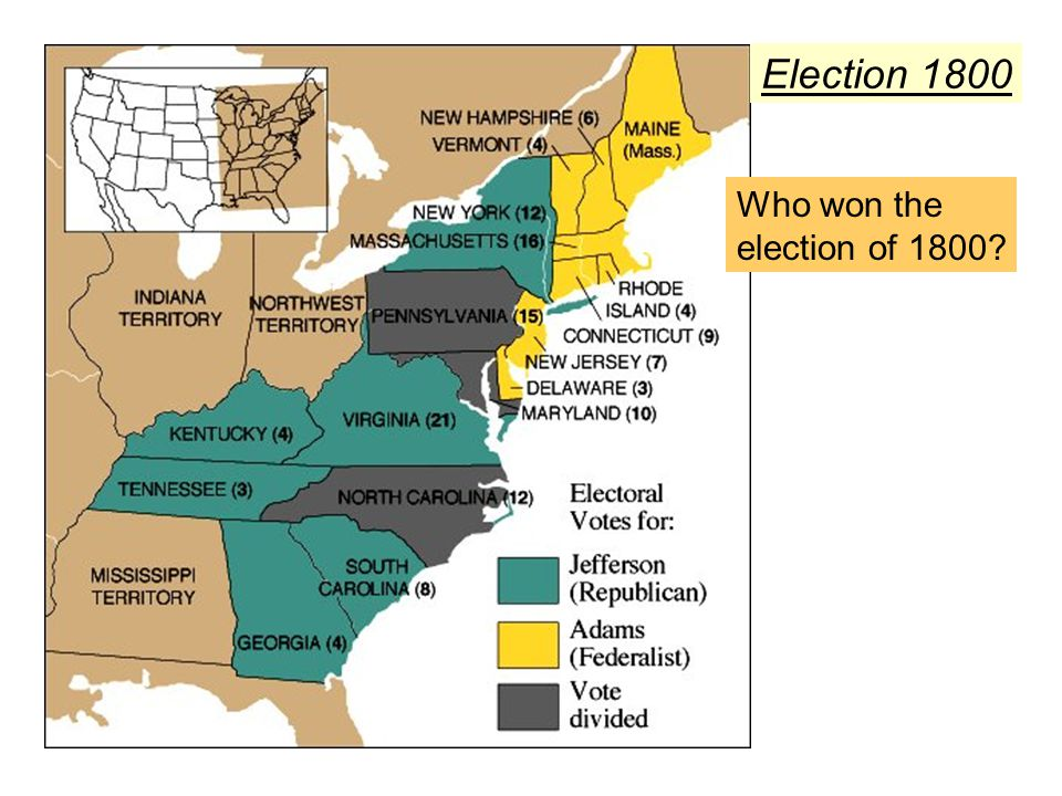 Election 1800 Who won the election of 1800