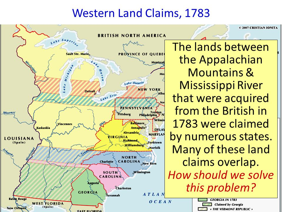 Western Lands, 1783 Western Land Claims, 1783.