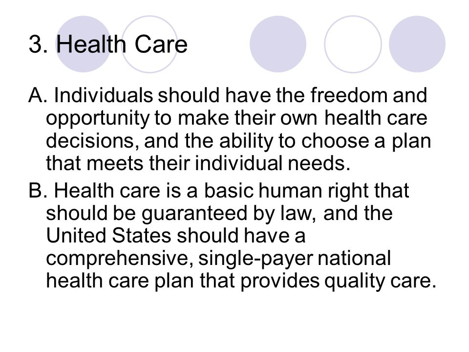 3. Health Care