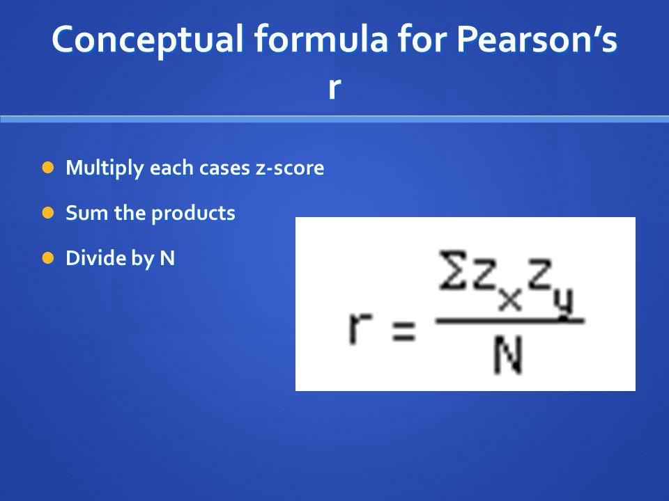 Conceptual formula for Pearson's r