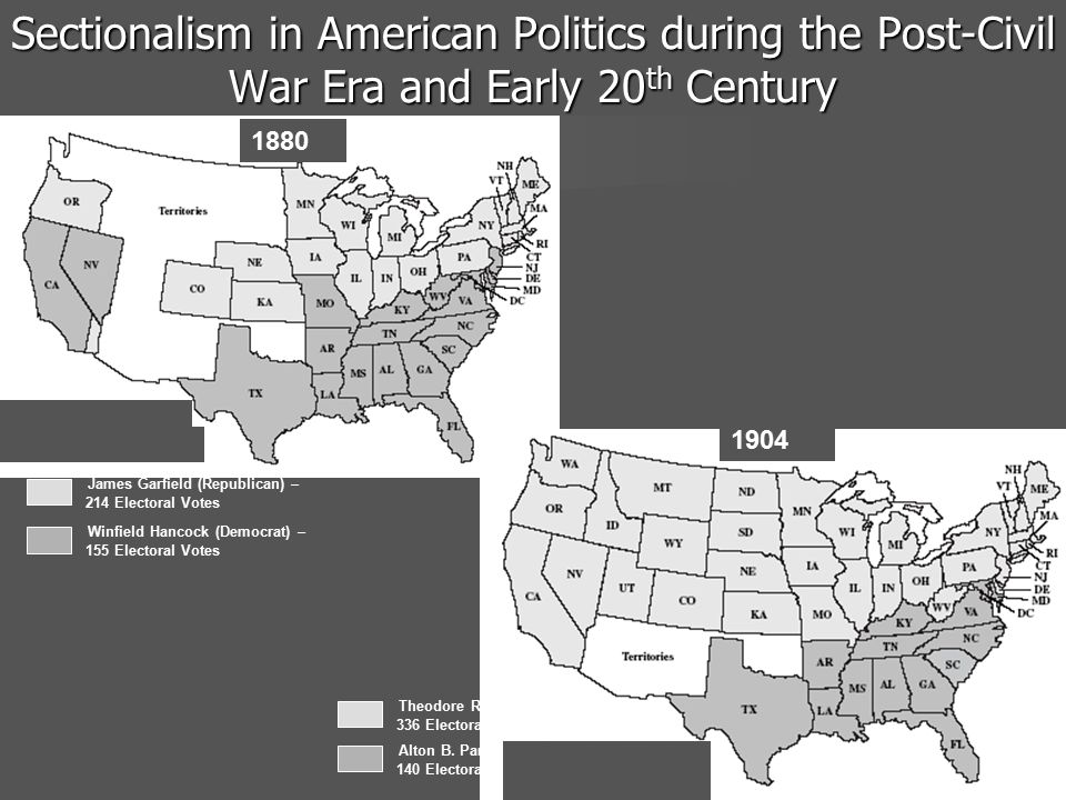 Sectionalism in American Politics during the Post-Civil War Era and Early 20th Century