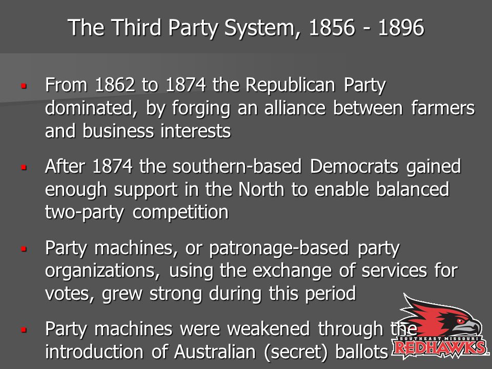 The Third Party System, 1856 - 1896