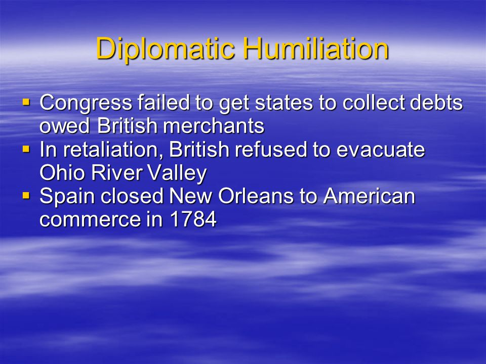 Diplomatic Humiliation