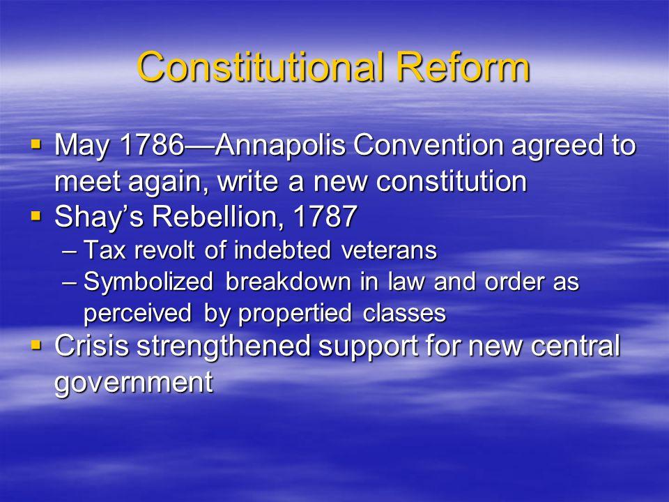 Constitutional Reform