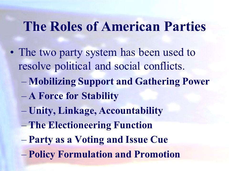 The Roles of American Parties