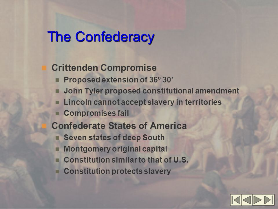 The Confederacy Crittenden Compromise Confederate States of America