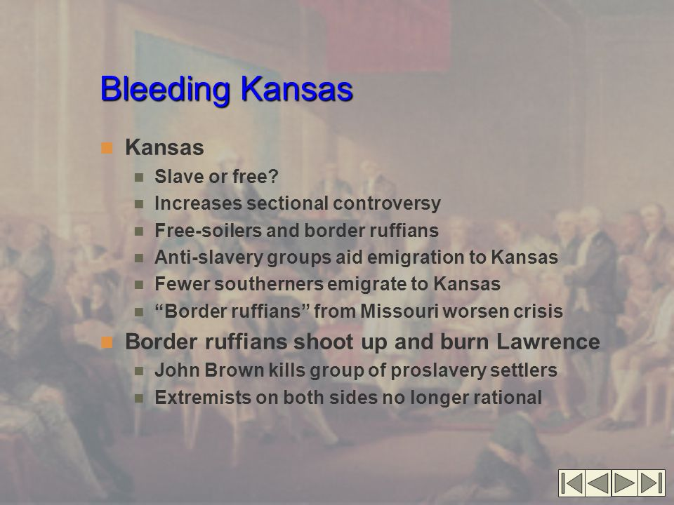 Bleeding Kansas Kansas Border ruffians shoot up and burn Lawrence