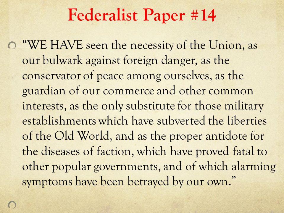 Federalist Paper #14