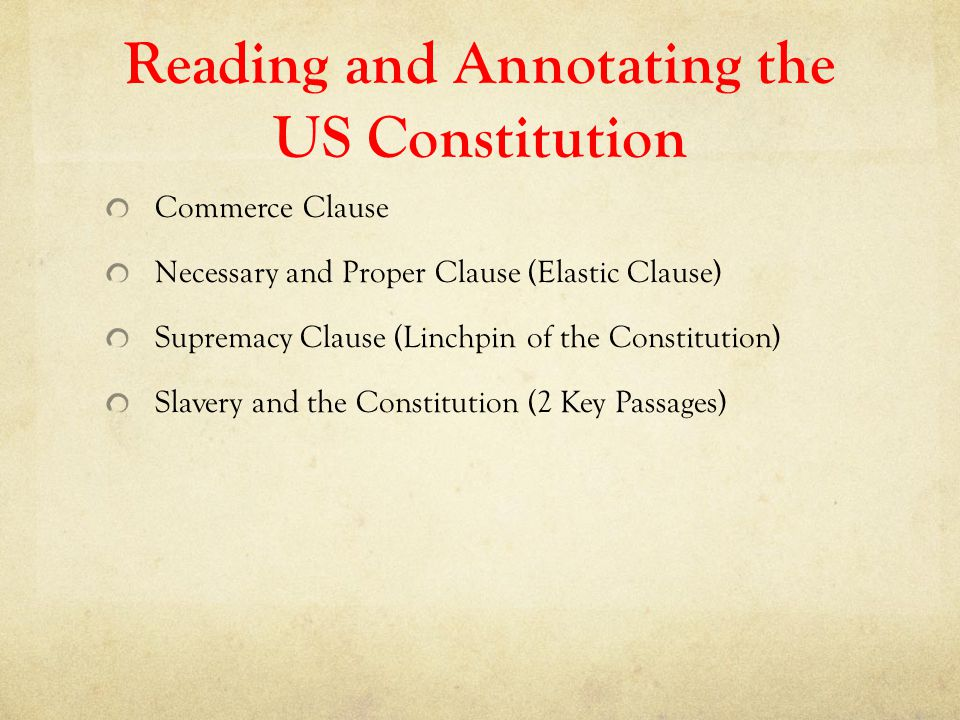 Reading and Annotating the US Constitution