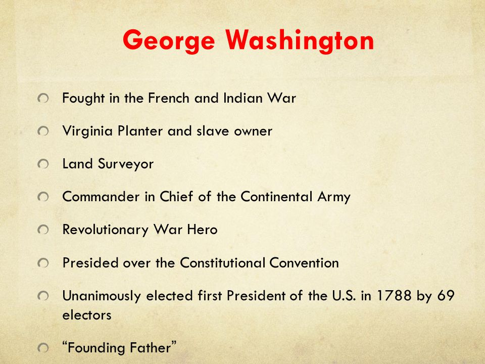 George Washington Fought in the French and Indian War