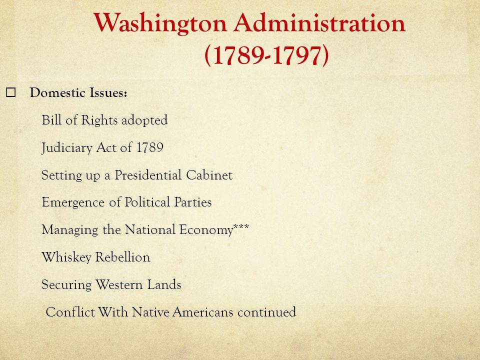 Washington Administration (1789-1797)