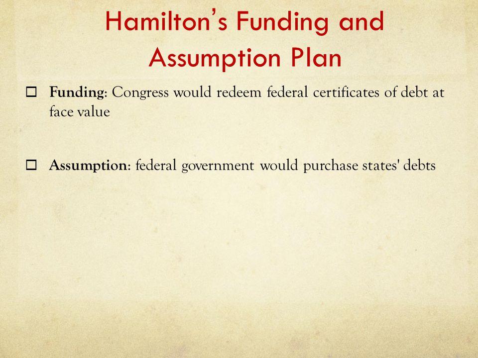 Hamilton's Funding and Assumption Plan